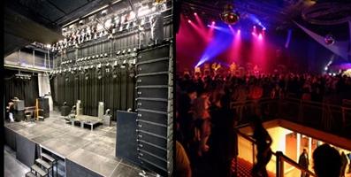 Concertzaal Max in de Melkweg (links) en de Effenaar (rechts)